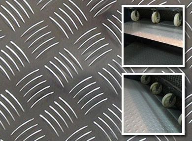 Aluminum Alloy Multi-Bar Chequered Safety Flooring Tread Plates